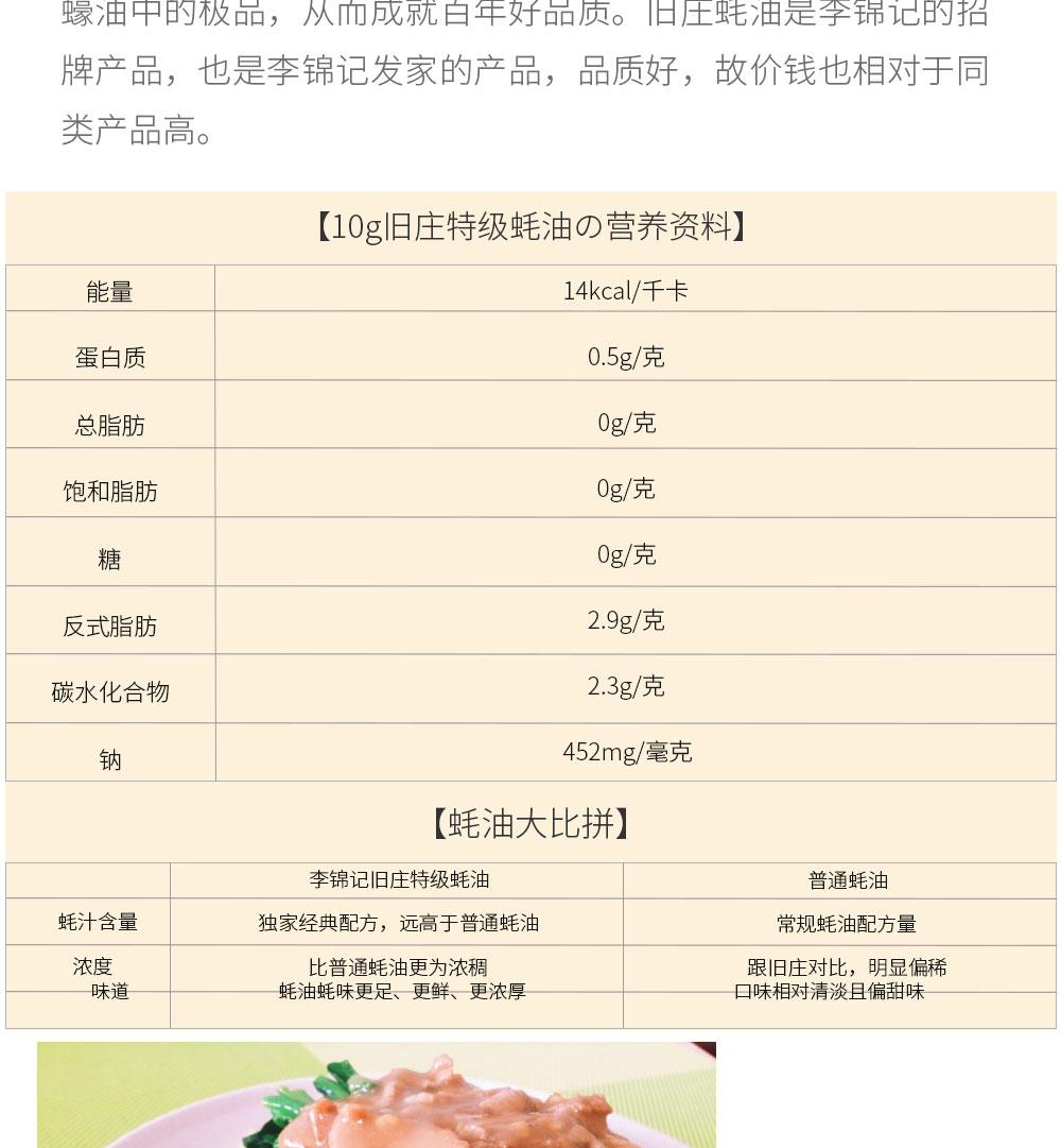 【包特级税3瓶装】旧庄李锦记田鸡香港蚝油5邮包影院太子妃升职记图片