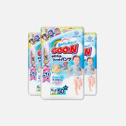 【包邮 3包装 111元/包】Goo.N大王 xL50片(12-20kg) 男宝宝拉拉裤 2.22元/片