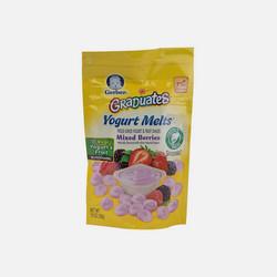 美国直邮包邮包税Gerber嘉宝婴儿混合梅酸奶溶豆28g  三件装