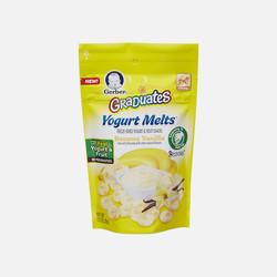 【包邮包税】美国直邮Gerber嘉宝 香蕉香草味酸奶小溶豆 28g