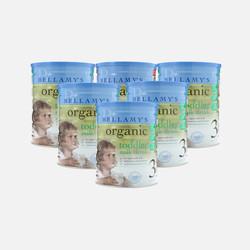 澳洲直邮【包邮包税】Bellamy's贝拉米3段 有机婴儿牛奶粉(12个月以上)900g*6罐