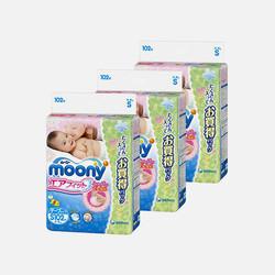 【包邮 3包装 106元/包】Moony尤妮佳S102片(4-8kg)纸尿裤 1.04元/片