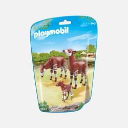 新加坡直邮【包邮包税】摩比Playmobil 俄卡皮鹿家族