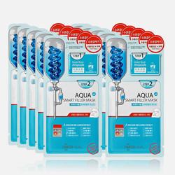 韩国直邮【包邮包税】MEDIHEAL/美迪惠尔可莱丝安瓶水清晶莹保湿面膜 10片/盒