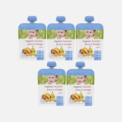 4袋包邮包税澳洲直邮Bellamy's贝拉米有机香蕉梨芒果泥 适合四个月以上 90g *4
