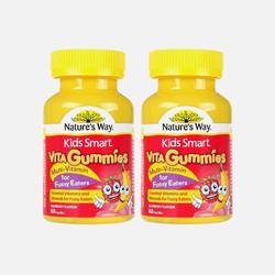 2瓶包邮包税澳洲直邮Nature's Way 儿童维生素挑食配方软糖 60粒*2 效期到17年9月
