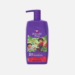 【包邮包税】美国直邮Aussie 袋鼠牌 儿童洗发露、护发素、沐浴露三合一865ml 蜜瓜香味